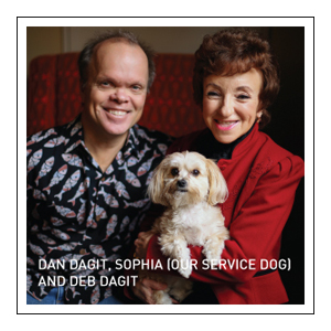 Dan Dagit, Sophia (Our Service Dog) and Deb Dagit