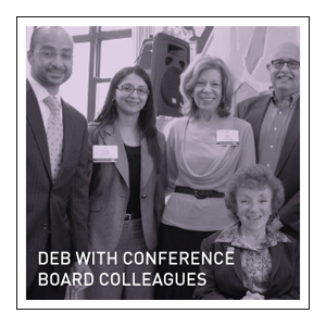 Deb with Conference  Board colleagues